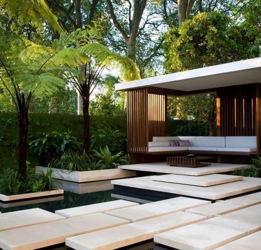 園林風格_現代風格_園林景觀設計|別墅花園設計|陽臺花園設計|屋頂